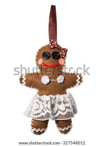 Handmade. Felt gingerbread lady