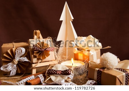 Handmade gifts made by natural materials - stock photo