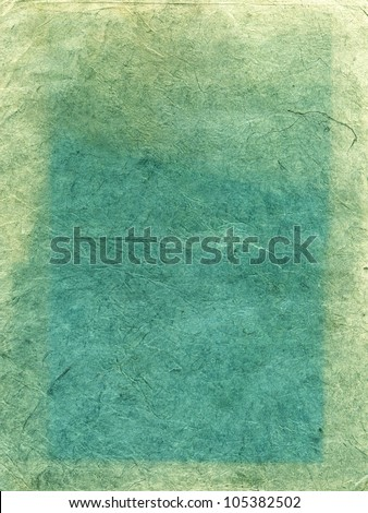 Handmade green rice paper texture - stock photo