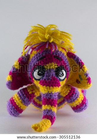 handmade knitted toy elephant