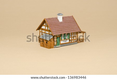 Handmade model old building