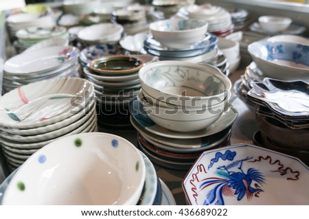 Handmade painted clay or pottery ,Plate , Glass , Bottles , Porcelain Made by tile and ceramic