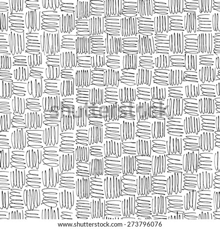 Handmade scribble seamless background. - stock photo