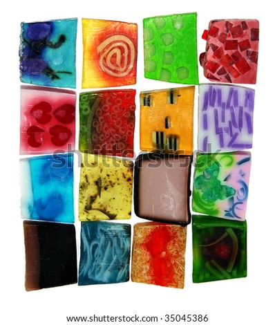 handmade  soaps - stock photo