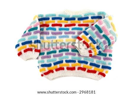 Handmade toddler sweater - stock photo