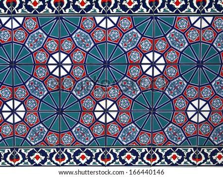 Handmade Turkish Tiles  - stock photo