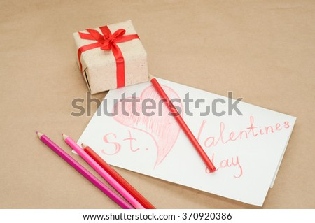 handmade valentine picture pencils