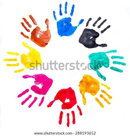 Handprint, Child, Human Hand. - stock photo