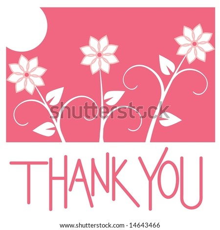 Handprint style thank you card in JPEG/TIFF format (Image ID for vector version: 14563573) - stock photo