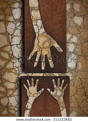 hands and help - stock photo