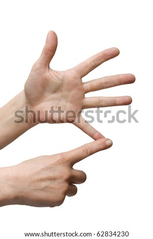 hands counting - stock photo