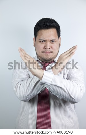 Hands cross - stock photo