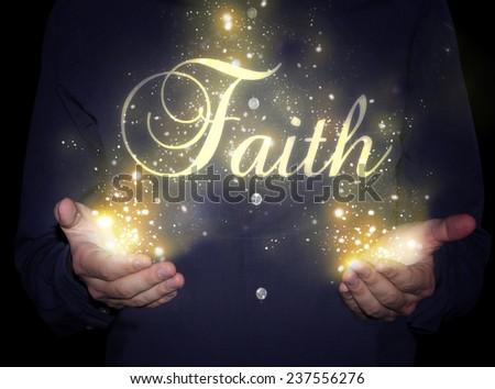 hands faith concept - stock photo