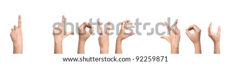 "Hands forming "" I Love You """