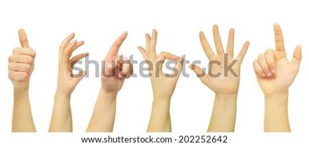 hands i - stock photo