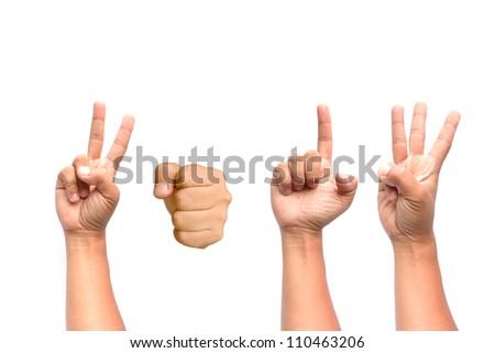 Hands in 2013. - stock photo