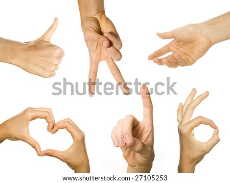 hands in action - stock photo