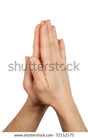 hands in prayer - stock photo