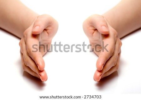 Hands joined together - stock photo