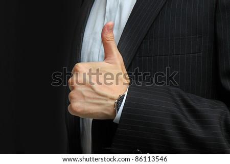 hands make thumbs up