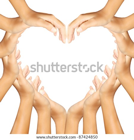 hands making a heart - stock photo