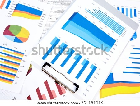 Hands of business people working in office with documents.  - stock photo