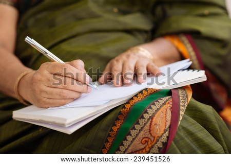 Woman Writing Letter Stock Royalty Free & Vectors