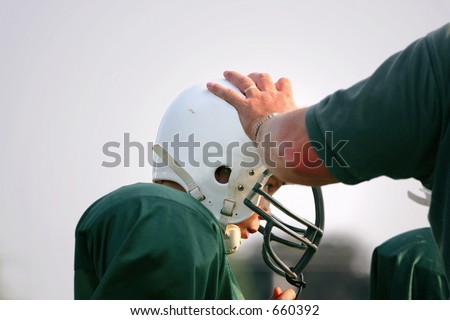 hands on coaching - stock photo