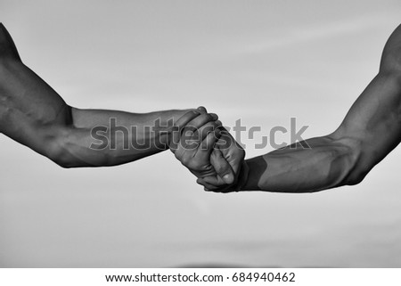Hands Arms Men Muscular Biceps Triceps Stock Photo (Royalty Free ...