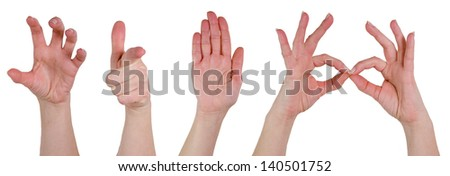 hands poses - stock photo