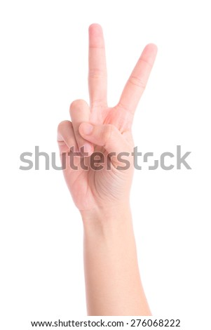 hands show the number two - stock photo