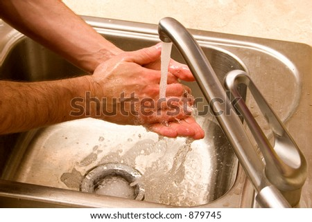 hands washing male