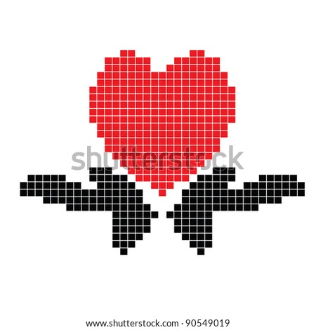 Hands with heart - stock photo