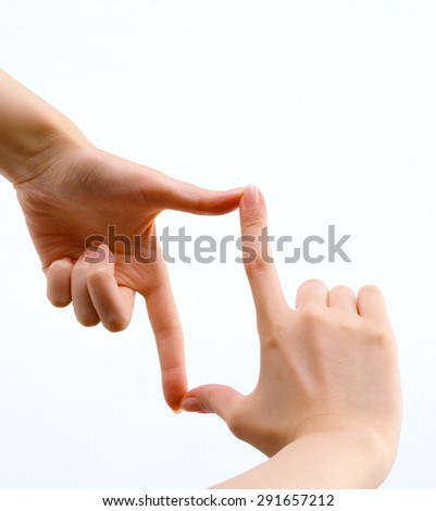 hands woman - stock photo