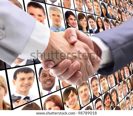 handshake and virtual background