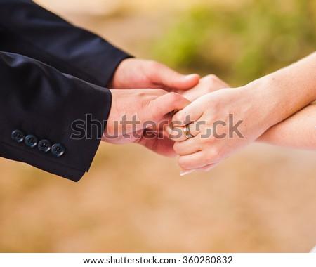 Handshake between a two people - stock photo