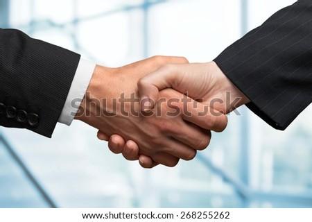 Handshake, Business, Human Hand. - stock photo