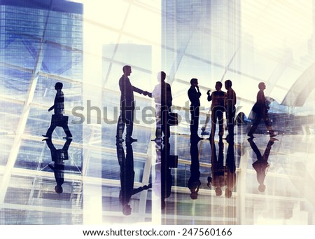 Handshake Business People Team Teamwork Meeting Conference Concept - stock photo