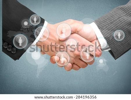 Handshake, Finance, Trust. - stock photo