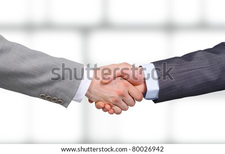 Handshake - Hand holding - stock photo