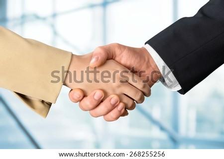Handshake, Human Hand, Greeting. - stock photo