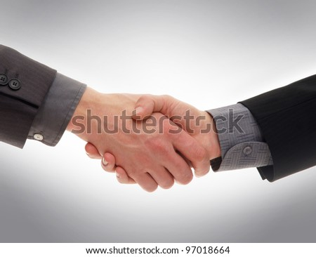 Handshake isolated on white