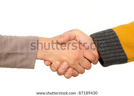 handshake man and woman