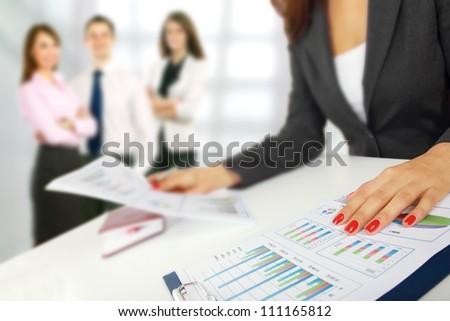 Handshake of business partners - stock photo