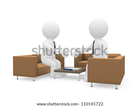 Handshake of two businessmen after signing the contract. Isolated on white background - stock photo
