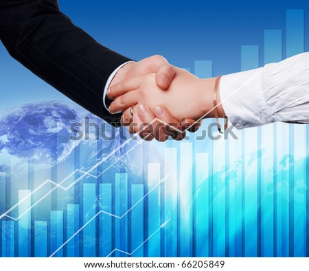 Handshake on an abstract background. The symbol of a successful business.