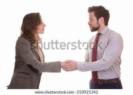 handshake or deal business partners shaking hands