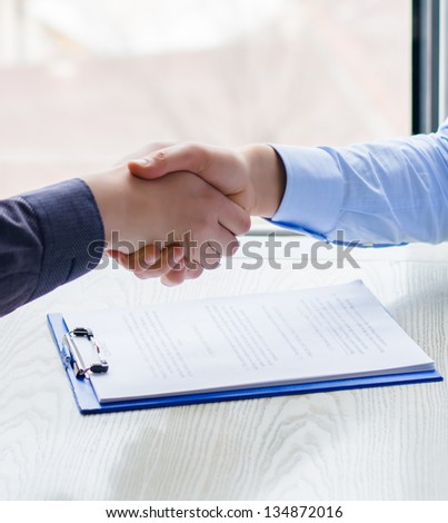 Handshake over Signed Contract