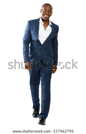 Handsome African Man In a suit.   - stock photo