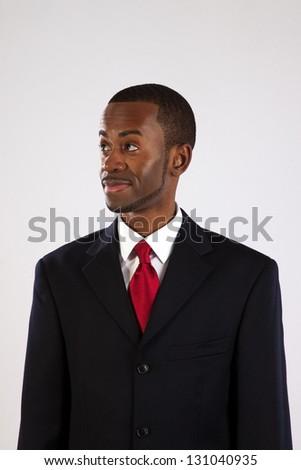 Handsome Black Businessman Suit Red Tie Stock Photo 131040935 ...